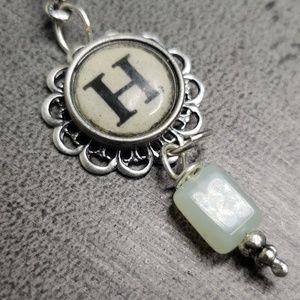 "Jewelry - Alphabet/initial ""H"" Typewriter Charm Necklace"